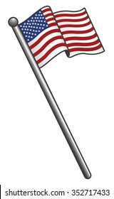 cartoon american flag images stock photos vectors shutterstock rh shutterstock com cartoon flag pictures cartoon flag pictures