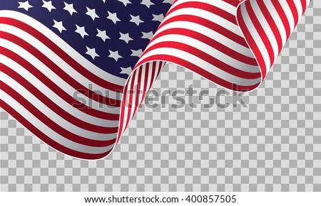 b0012e74ea0 American Flag On Transparent Background Vector Stock Vector (Royalty ...