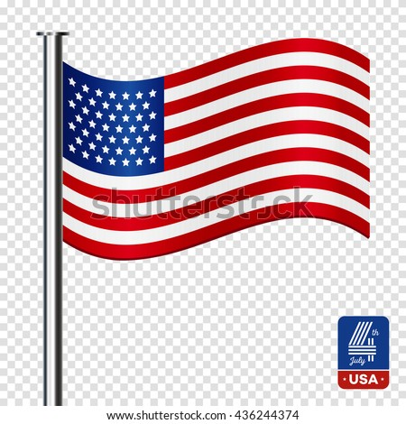 american flag on transparent background happy のベクター画像素材