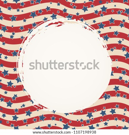american flag patriotic background united states stock vector