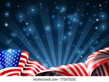 An American flag patriotic or political design