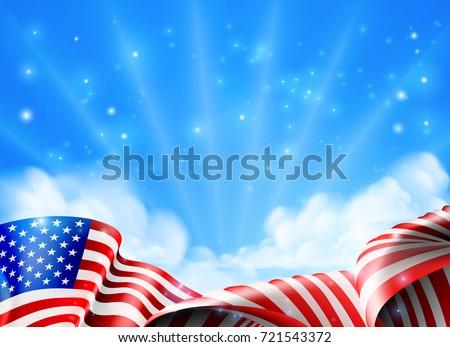 american flag political patriotic background design stock vector