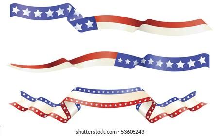 American flag red white blue banner designs