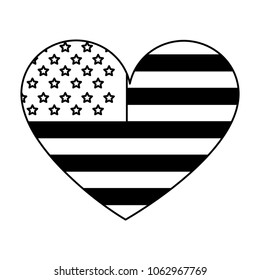american flag shaped heart