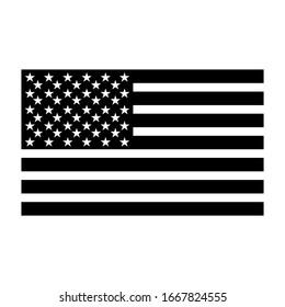 American flag silhouette vector illustration