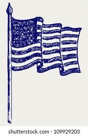 American Flag. Sketch