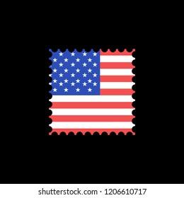 american flag stamps design eps 10