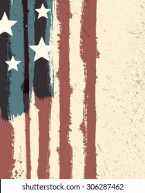 American flag styled abstract grunge background