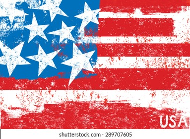 American FlagA stylized, textured American flag.