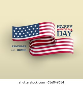The American flag symbol, Memorial Day national holiday card