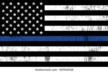 An American flag symbolic of support for law enforcement. Vector EPS 10 available.