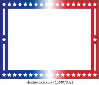 American flag symbols border with blank space for text.