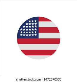 American, Flag, Thanksgiving, Usa  Flat Color Icon. Vector icon banner Template