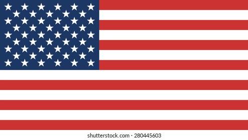 American Flag. United State of America Flag. Vector Illustration.
