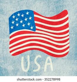 American flag. USA