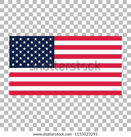 84a90d8a23b8 American Flag USA Flag Vector Icon Stock Vector (Royalty Free ...