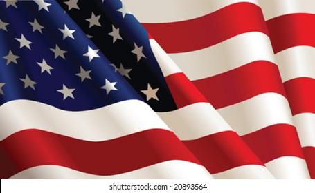 American flag, vector color Illustration