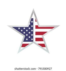 american flag vector graphic icon logo template vector illustration
