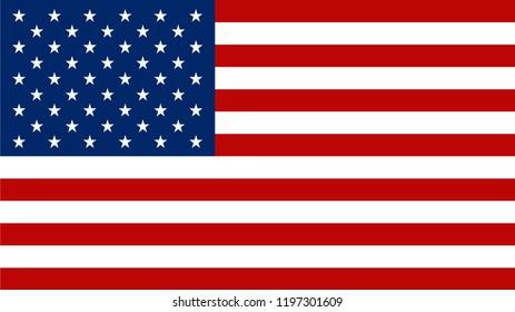 American flag vector icon.