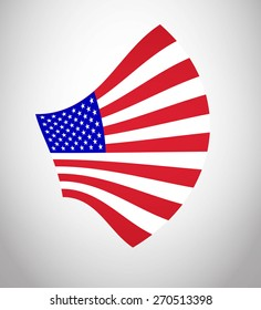 American Flag Vector. Vector Icon Illustration Flag For Your Business Presentations And Fashion Presentation