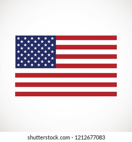 American flag vector icon. The Flag Of The United States Of America.