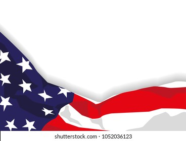 American flag vector illustration.
