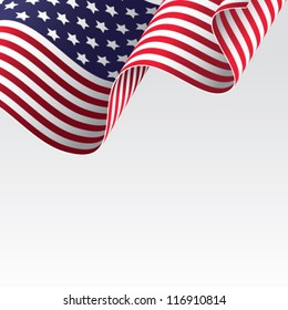 American flag vector illustration