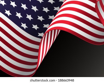 American flag - vector illustration