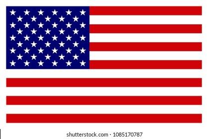 American Flag. Vector image of american flag. Coloured USA flag.