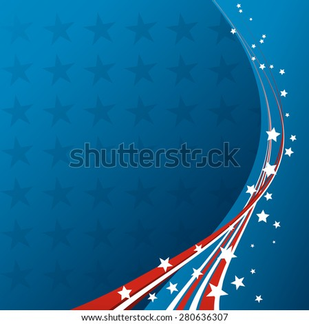 american flag vector patriotic background independence stock vector