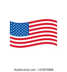American Flag Vector Template Design, vector eps 10