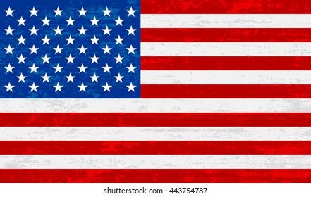 American flag vintage textured and grunge background, illustration design.