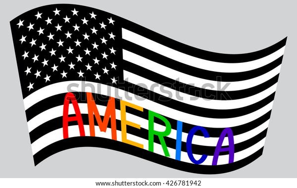 American Flag Black And White Clip Art Free - American Flag Drawing Black  And White, HD Png Download , Transparent Png Image - PNGitem