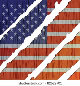 american flag wooden texture