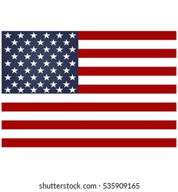 American flag.American flag isolated on a white background, vector illustration stylish