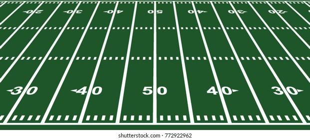 American foorball field. vector illustration