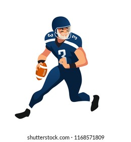 american foorball player. isolated on white background. Vector illustration