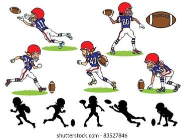 American Football Cartoon Images Stock Photos Vectors