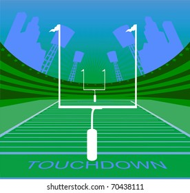 American football abstract background. Vector illustration.