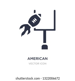 american football annotation icon on white background. Simple element illustration from American football concept. american football annotation sign icon symbol design.