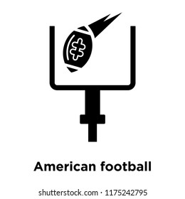 American football annotation icon vector isolated on white background, logo concept of American football annotation sign on transparent background, filled black symbol