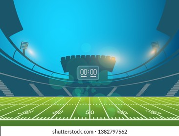 American football arena field. vector design. eps 10