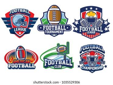 american football badge design
