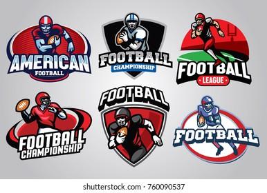 American Football Badge Design set
