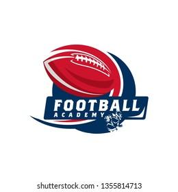 American Football Badge Logo Template Vector