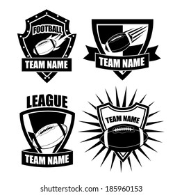 American football badges. EPS 10 vector, grouped for easy editing. No open shapes or paths.