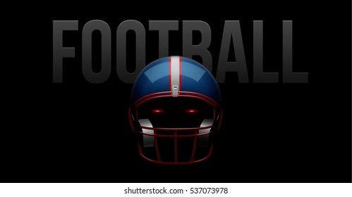 american football ball 3d realistic object place for text background vector eps 10 2017