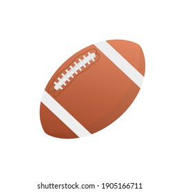 American football ball, great design for any purposes. Vector illustration flat design. Cartoon vector illustration.