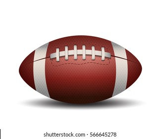 American Football ball isolated on a white background. Vector Illustration design. Rugby sport.