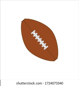american football ball with seam. Vector illustration for web and mobile design.